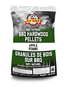 Pit Boss 55433 Apple Wood Pellets for Cooking BBQ-40 No Bag