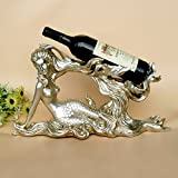 Creative Mermaid wine racks decorated wine racks European and American women body art home Decoration