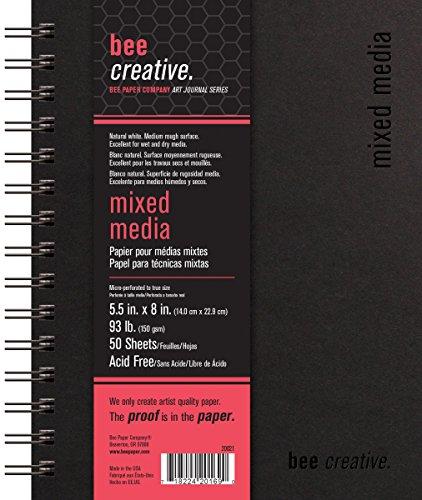 Bee Paper Company Bee Paper Bee Creative Mixed Media Book, 5-1/2
