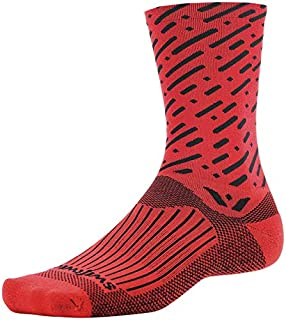 product image for Swiftwick Vision Seven Cadence Socks: Red/Black SM/MD