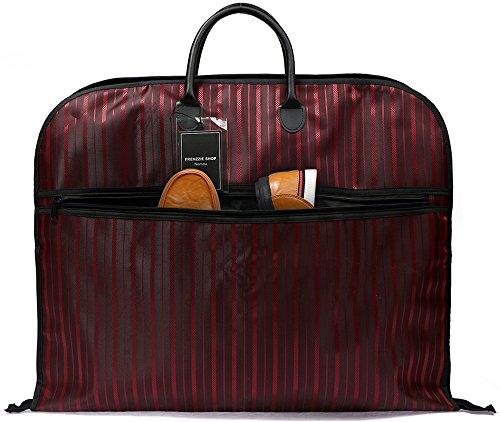 Nornou Foldable Travel Garment Bag Ultra-light Suit Dustproof Bag With Metal Hanging Hook Wine Red from Nornou