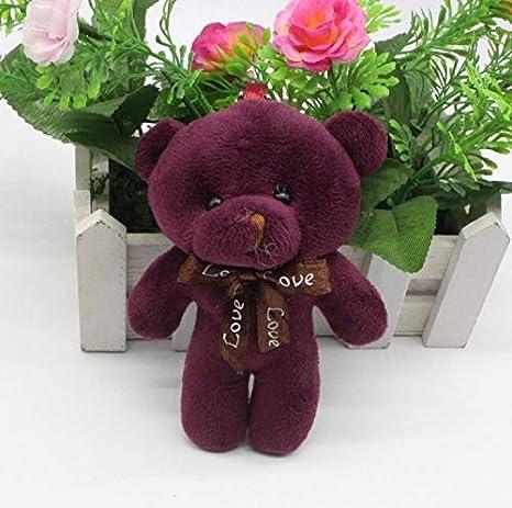 Amazon.com: Llavero de oso de peluche Kawaii pequeño de 4.7 ...
