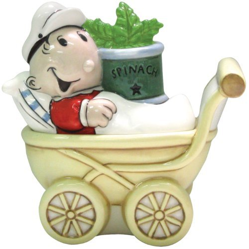 Westland Giftware Popeye Magnetic Sweet Pea and Stroller