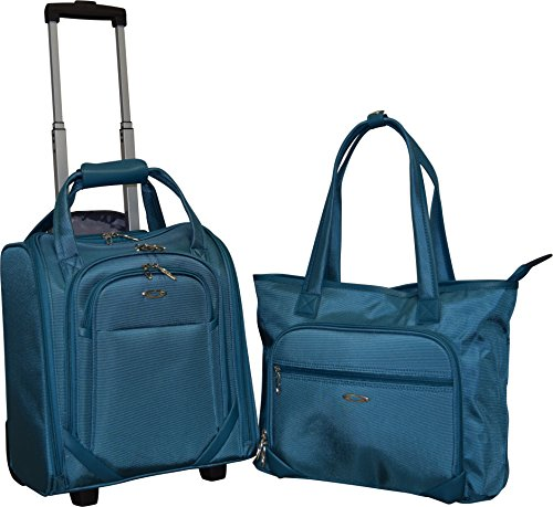 Kemyer Computer Underseater and Tote (2 Piece), Blue (Rolling Computer Bag Blue)