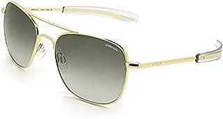 product image for Randolph Aviator 23K Gold Bayonet Temple Green Gradient Lite Non-Polarized Sunglasses (58mm)