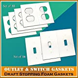 Gasket Covers, Electrical Outlet & Light Switch Plate Draft Stopper Foam Gaskets (2)