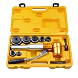 6 Ton Gold Hydraulic Knockout Punch Driver Kit Hand Pump Hole Case Tool 11 Gauge #YCNH