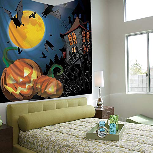 (AngelSept Popular Flexible Hot Tapestries Privacy Decoration,Halloween Decorations,Gothic Halloween Haunted House Party Theme Decor Trick or Treat for)