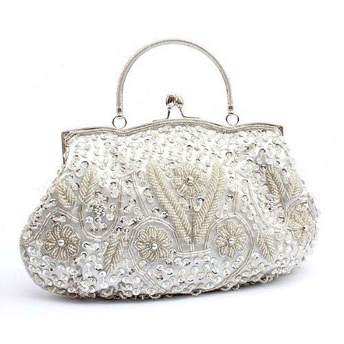¡OFERTA! LadyGirl Vogue - Bolso de mano, de moda, de mujer, para fiesta, ideal para regalo - Distintos colores, precio/unidad blanco