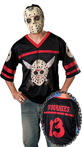 [Jason Vorhees Friday The 13th Mask Jersey Killer Movie Adult Halloween Costume] (Jason Vorhees Masks)