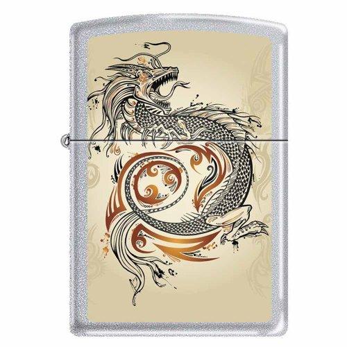(Zippo Dragon Tattoo Chrome Lighter, 2916)