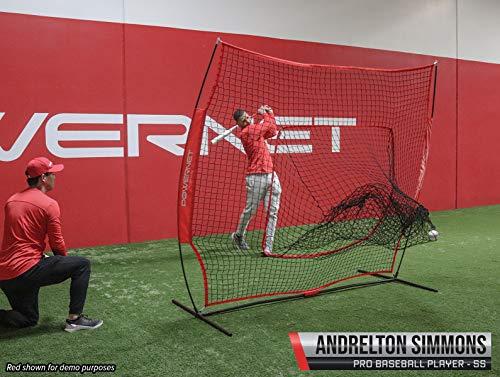 87f46bd73 PowerNet DLX 7x7 Baseball Softball Hitting Net + Weighted Heavy Ball + Strike  Zone Bundle (
