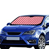 NQEONR Folding Car Sun Shade Diagonal Red Tablecloth Seamless Pattern Vector Polyester&aluminized Film Cushion for Maximum Uv & Sun Protection Car Windscreen Sun Shade Foldable Keep Your Vehicle Cool