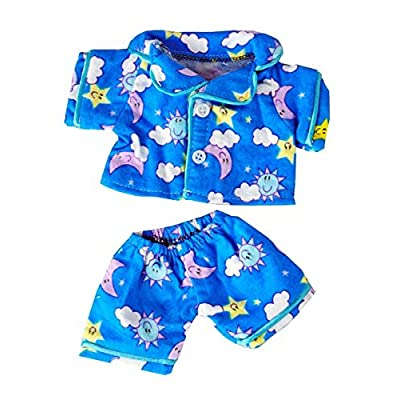 "Sunny Days Blue Pj's Fits Most 8""-10"" Webkinz, Shining Star and 8""-10"" Make Your Own Stuffed Animals and Build-A-Bear: Toys & Games"