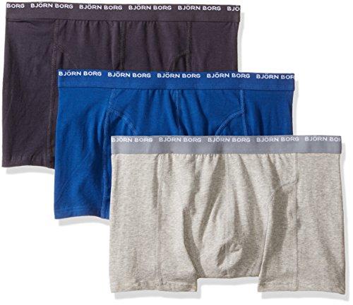 Bjorn Borg Men's 3-Pack Seasonal Solids Basics Boxer Brief -  Bjorn Borg Men's Underwear