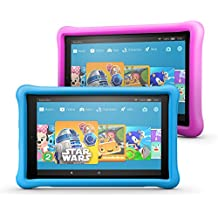 """All-New Fire HD 10 Kids Edition Tablet Variety Pack, 10.1"""" 1080p Full HD Display, 32 GB, Blue/Pink Kid-Proof Case"""