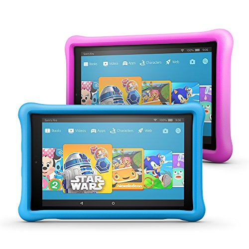 """Fire HD 10 Kids Edition Tablet 2-pack, 10.1"""" 1080p Full HD Display, 32 GB, Blue/Pink Kid-Proof Case by Amazon"""