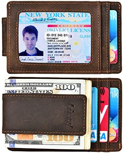 Pocket Wallet Leather Blocking Strong