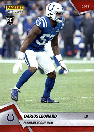 - 2018 Panini Instant NFL Panini All-Rookie Team Football #16 Darius Leonard RC Rookie Indianapolis Colts Limited Print Run of 576 Online Exclusive Trading Card