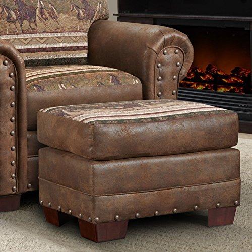 American Furniture Classics Wild Horses Ottoman