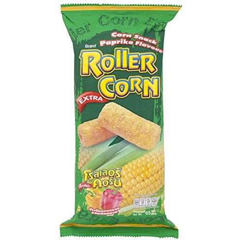 Roller Corn, Extra, Corn Snack, Paprika Flavour, net weight 65 g (Pack of 3 pieces) / Beststore by -