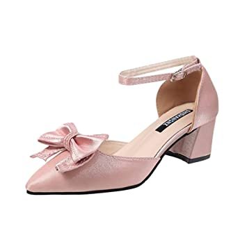 0659343b3b Amazon.com : Staron Women's Sandals With Bows Sexy Glitter Thick ...
