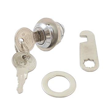 - Cerradura para buzón Diámetro 17 Mm Perforación métrica para el buzón de cerradura con 2 llaves: Amazon.es: Jardín
