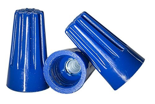 (100 PCS Blue Wire Connector, P2 Type Easy Twist-On Ribbed Cap - UL and CSA Listed)