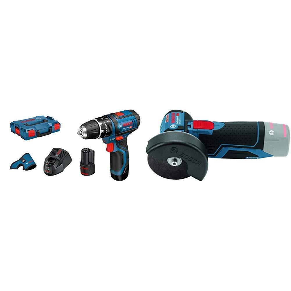 Blu M 5 12 V LI Professional Trapano Battente-Avvitatore a Batteria Bosch Professional GWS 12V-76 Smerigliatrice Angolare a Batteria 15 Bosch GSB 12V 0.7 kg
