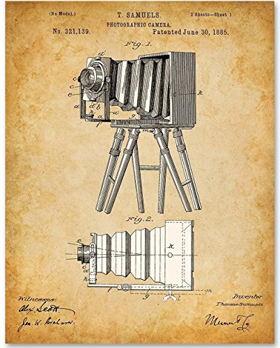 Photographic View Camera - 11x14 Unframed Patent Print - Great Gift for Photographers (Gift Christmas Ideas Photographer)