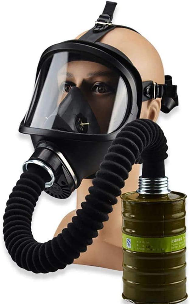 Sooiy Máscara 320ml Química Biológica Gas Chemical, Y por contaminación radiactiva autocebante Mascarilla Facial de la máscara de Gas clásico