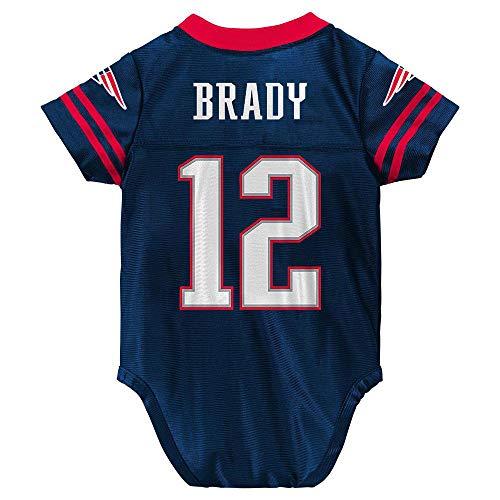 Outerstuff Tom Brady New England Patriots #12 Navy Blue Newborn Home Player Creeper Jersey (3/6 Months)