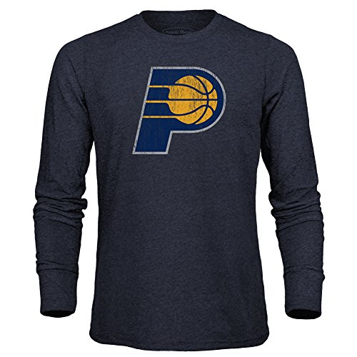 (Majestic Athletic NBA Indiana Pacers Men's Premium Triblend Long Sleeve Tee, Large, Navy)