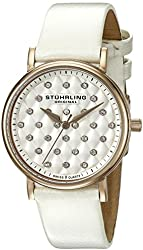 Stuhrling Original Women's 799.04 Symphony Analog Display Swiss Quartz White Watch