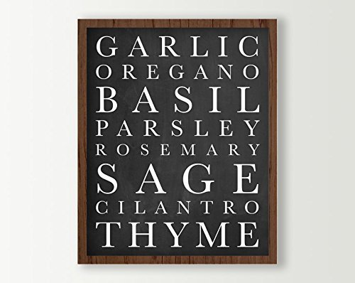 Awe Inspiring Amazon Com Kitchen Wall Decor Sign Herbs Art Print Download Free Architecture Designs Boapuretrmadebymaigaardcom