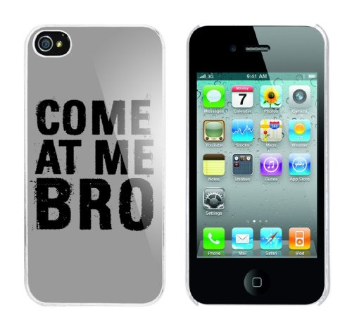 Iphone 4 Case Come at me Bro Rahmen weiss