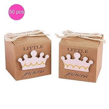 50 pcs Cajas para Regalo Kraft Pequeña princesa con Cuerda ...
