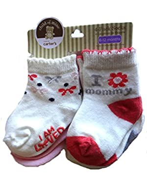 Child of Mine 4 pack Girls Socks 6-12 Months