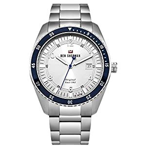 Ben Sherman Men's Analog Quartz Watch with Stainless-Steel Strap WBS107SM