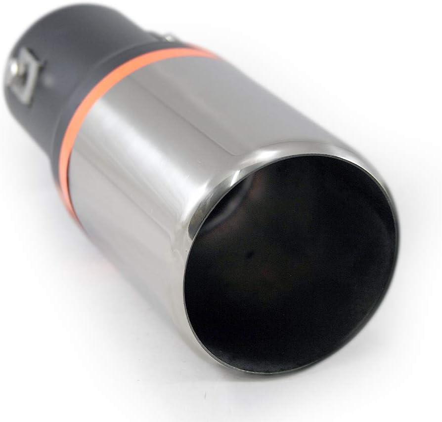 Universal Auspuff Blende Endrohr Edelstahl Sport Tuning Optik 53mm Ø