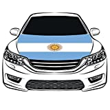 Cheap Argentina Flag Car Hood Cover 3.3X5FT 100% Polyester,Engine Flag,Elastic Fabrics Can be Washed,Car Bonnet Banner