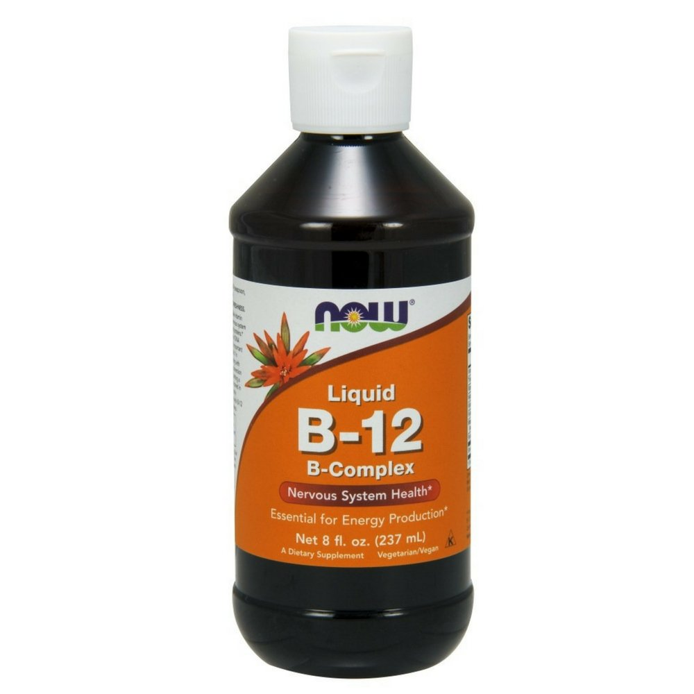NOW Vitamin B-12 Complex Liquid,8-Ounce