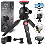 qubo Mini Tripod Camera Holder - Premium Small Tripod Desktop - Cell Phone Tripod Mount for GoPro iPhone/Any Smartphones Webcam Projector Compact DSLRs - Tabletop Tripod Table Stand Hand