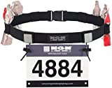 Engine Design Group NGN Race Number Belt for Triathlon, Marathon, Running, Cycling (10 Gel Loops) (Black)