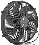 """Be Cool 75087 Euro-Black 16"""" Special HP Electric Puller Fan"""