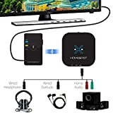 Bluetooth Audio Receiver Adapter for Home Stereo by HomeSpot APTX Low Latency v4.2 Stream Music from iPhone, iPad, Laptop to Any Non-Bluetooth Speaker
