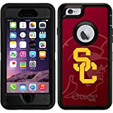 OtterBox Apple iPhone 6/6s Black Defender Case with USC Watermark 1, Full-Color Design