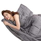 BUZIO Weighted Blanket 15 lbs for Adults (140-190 lbs), Heavy Blanket with Oeko-TEX Standard Cool...