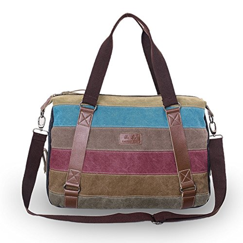 Handle Colorful Stripe Top Sac Femmes Minetom Canvas 0HUvqq