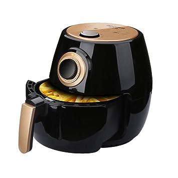 Freidora eléctrica con control de temperatura ajustable y temporizador Salud Freidora rápida sin aceite baja en